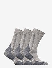 Danish Endurance - Classic Merino Wool Hiking Socks 3 Pack - kousen - light grey - 1
