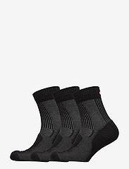 Danish Endurance - Merino Wool Light Hiking Socks 3 Pack - kousen - black - 0