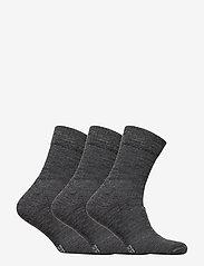 Danish Endurance - Merino Wool Light Hiking Socks 3 Pack - kousen - grey - 2
