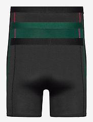 Danish Endurance - Sport Polyester Trunks 3 Pack - ondergoed - multicolor (1x black, 1x black/red, 1x green/purple) - 4