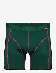 Danish Endurance - Sport Polyester Trunks 3 Pack - ondergoed - multicolor (1x black, 1x black/red, 1x green/purple) - 3
