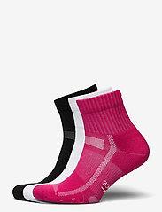 Danish Endurance - Long Distance Running Socks 3 Pack - kousen - multicolour (1x black, 1x pink, 1x white) - 0