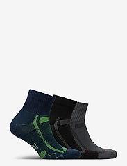 Danish Endurance - Long Distance Running Socks 3 Pack - kousen - multicolor (1x black/grey, 1x blue/yellow, 1x grey/black) - 1