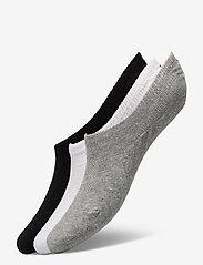 Danish Endurance - No Show Socks 6 Pack - kousen - multicolor (2x black, 2x grey, 2x white) - 0