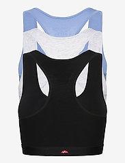 Danish Endurance - Organic Cotton Bralette 3 Pack - zachte beha - multicolor (1x black, 1x grey mélange, 1x light blue) - 7