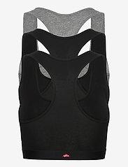 Danish Endurance - Organic Cotton Bralette 3 Pack - zachte beha - multicolor (2x black, 1x grey/black) - 5