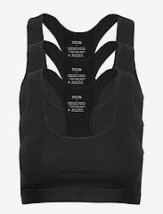 Danish Endurance - Organic Cotton Bralette 3 Pack - bralette & corset - black - 0