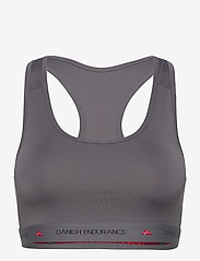Danish Endurance - Microfiber Sports Bra 1 Pack - sportbeh''s: low - grey - 0