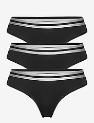 Danish Endurance - Organic Cotton Thong by Pernille Blume 3 Pack - slips - black - 0