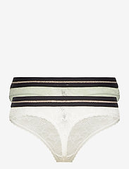 Danish Endurance - Blooming Lace Thong by Pernille Blume 2 Pack - slips - multicolor (1 x white, 1 x sea foam green) - 2