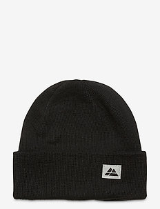 Beanie Recycled Polyester 1-pack - huer - black