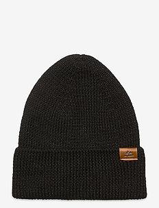 Merino Blend Beanie 1-pack - hats - black