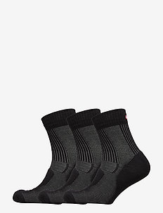 Merino Wool Light Hiking Socks 3 Pack - regular socks - black