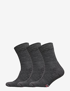 Merino Wool Light Hiking Socks 3 Pack - sockor - grey