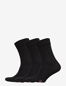 Merino Blend Dress Socks 3 Pack - vanlige sokker - black