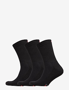 Tennis Performance Crew Socks 3 Pack - str - black