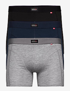 Classic Trunks 3 Pack - bielizna - multicolour (black, navy blue, grey)