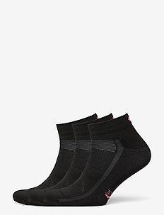 Low Cut Cycling Socks 3 Pack - kousen - black
