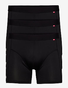 Sport Polyester Trunks 3 Pack - bielizna - black