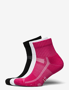 Long Distance Running Socks 3 Pack - ankle socks - multicolour (1x black, 1x pink, 1x white)