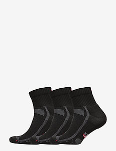 Long Distance Running Socks 3 Pack - vanliga strumpor - black/grey