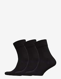 Bamboo Blend Dress Socks 3 Pack - str - black
