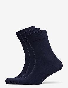 Bamboo Blend Dress Socks 3 Pack - kousen - navy blue