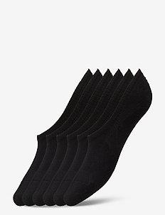 No Show Socks 6 Pack - skarpety za kostkę - black
