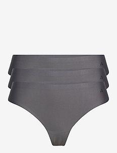 Microfiber Thong 3 Pack - slips - grey