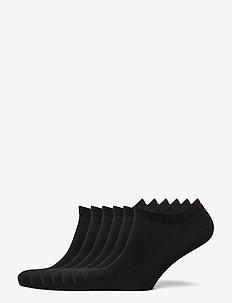 Bamboo Blend Low Cut Socks 6 Pack - kousen - black
