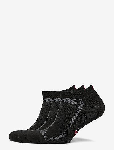 Low Cut Long Distance Running Socks 3 Pack - ankle socks - black/grey