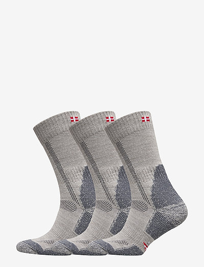 Classic Merino Wool Hiking Socks 3 Pack - regular socks - light grey