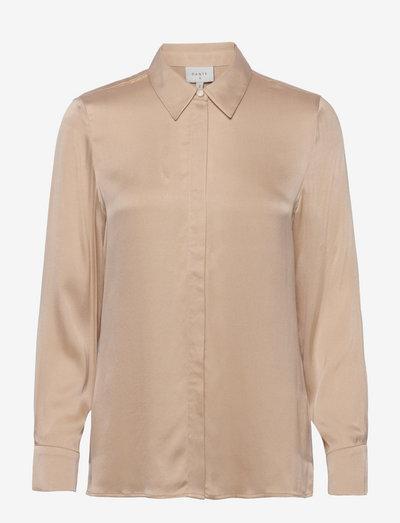 Zayn silk stretch blouse - jeansblouses - sand
