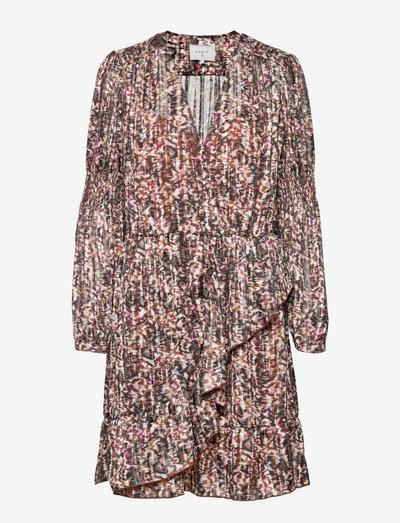 Belief print jacquard dress - cocktail dresses - multicolour