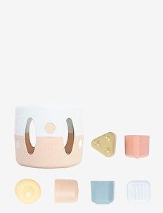 Tiny BIO - baby toys - dusty-blue, army-green, dusty-pink, dusty-yellow, grey