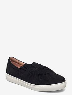 Daylily  Bow - baskets slip-on - black