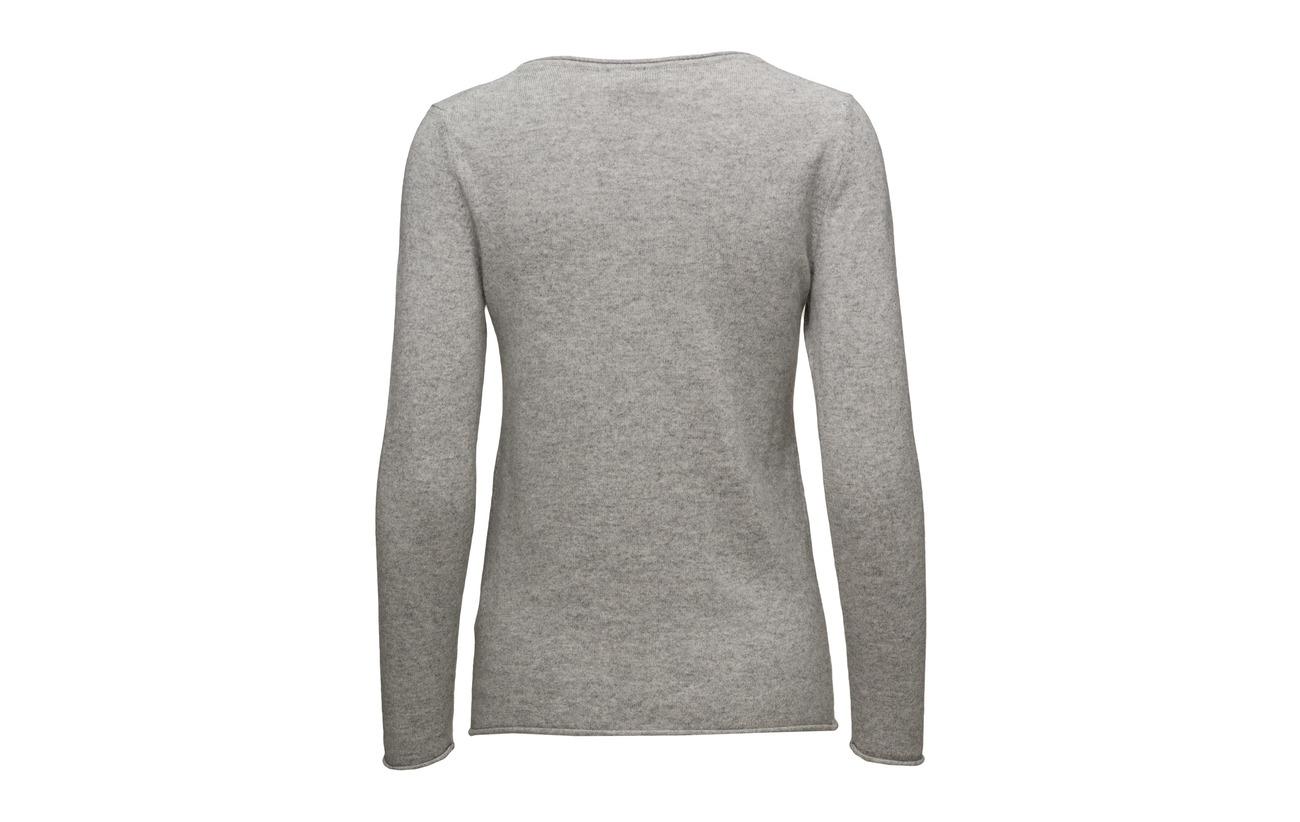 Grey Light 100 Cachemire Sweater Edge Davida Raw Cashmere wqx1IOwX8