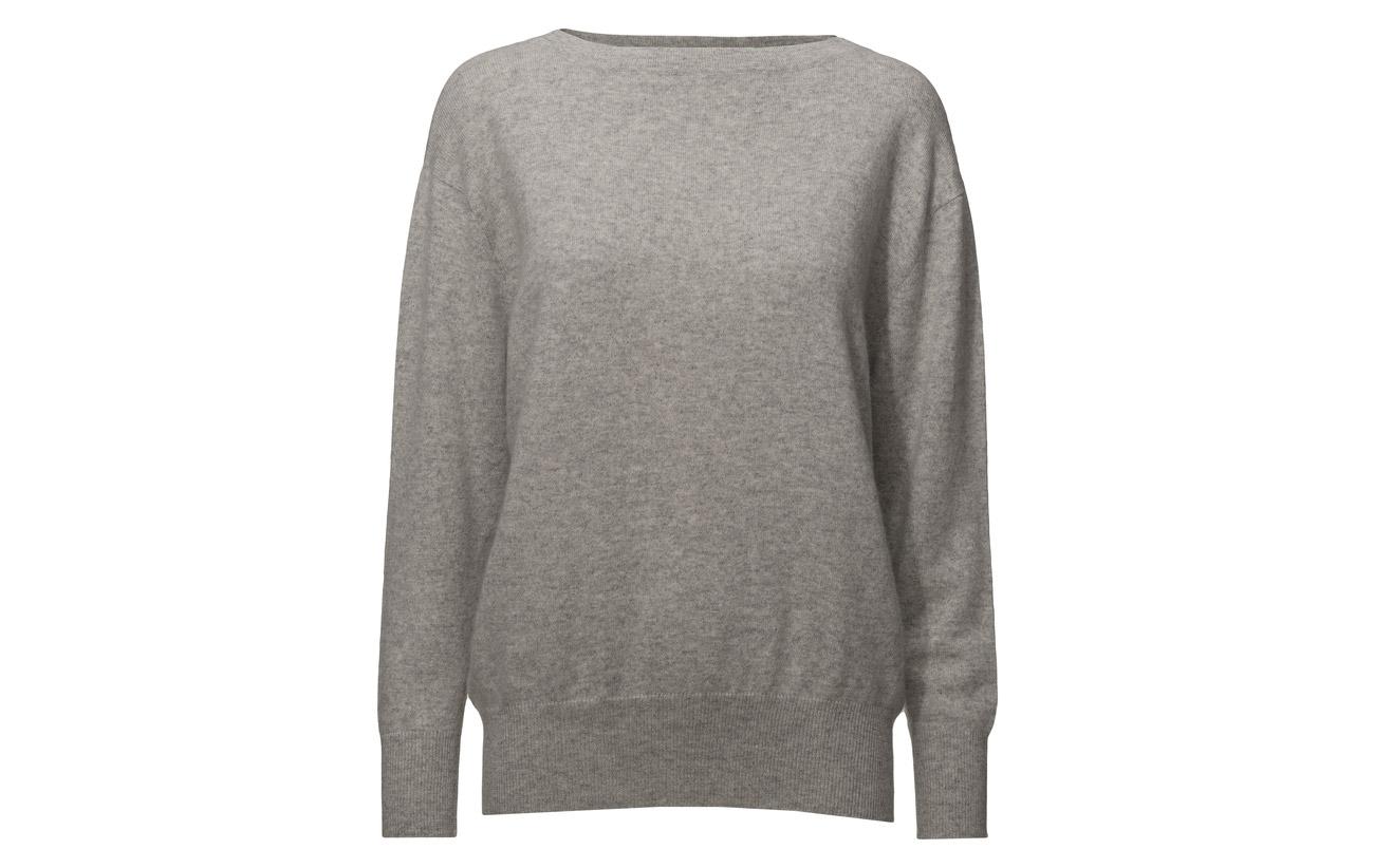 100 Grey Sweater Light Cachemire Boatneck Davida Cashmere zWXq7Hw0