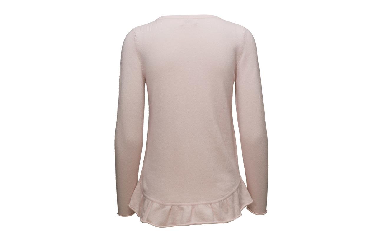 Cachemire Grey Cashmere 100 Davida Flounce Light Sweater zRnapwxS7