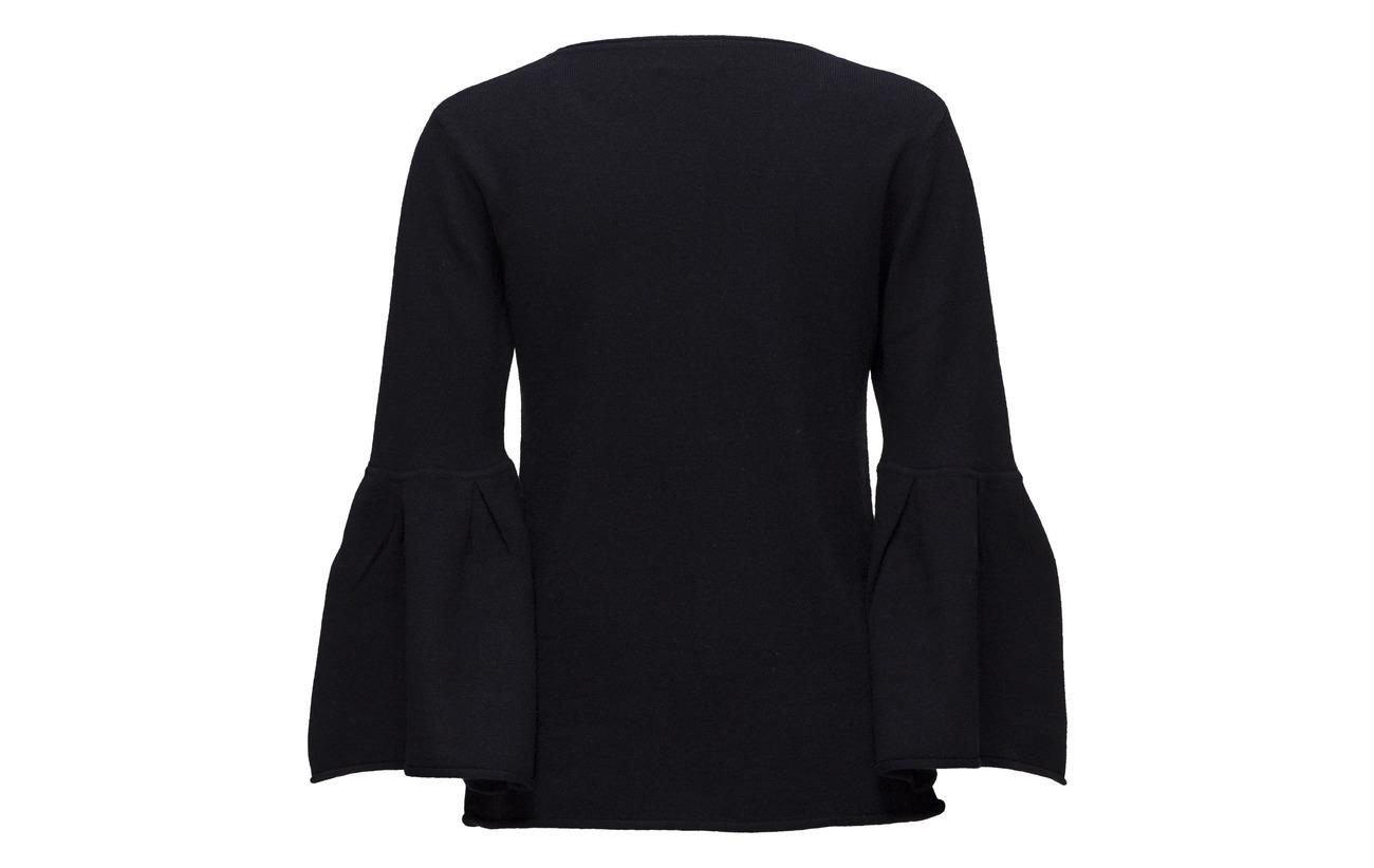 O Light 100 Cachemire Cashmere Sleeve Flounce neck Davida Pink tqgp7wXx