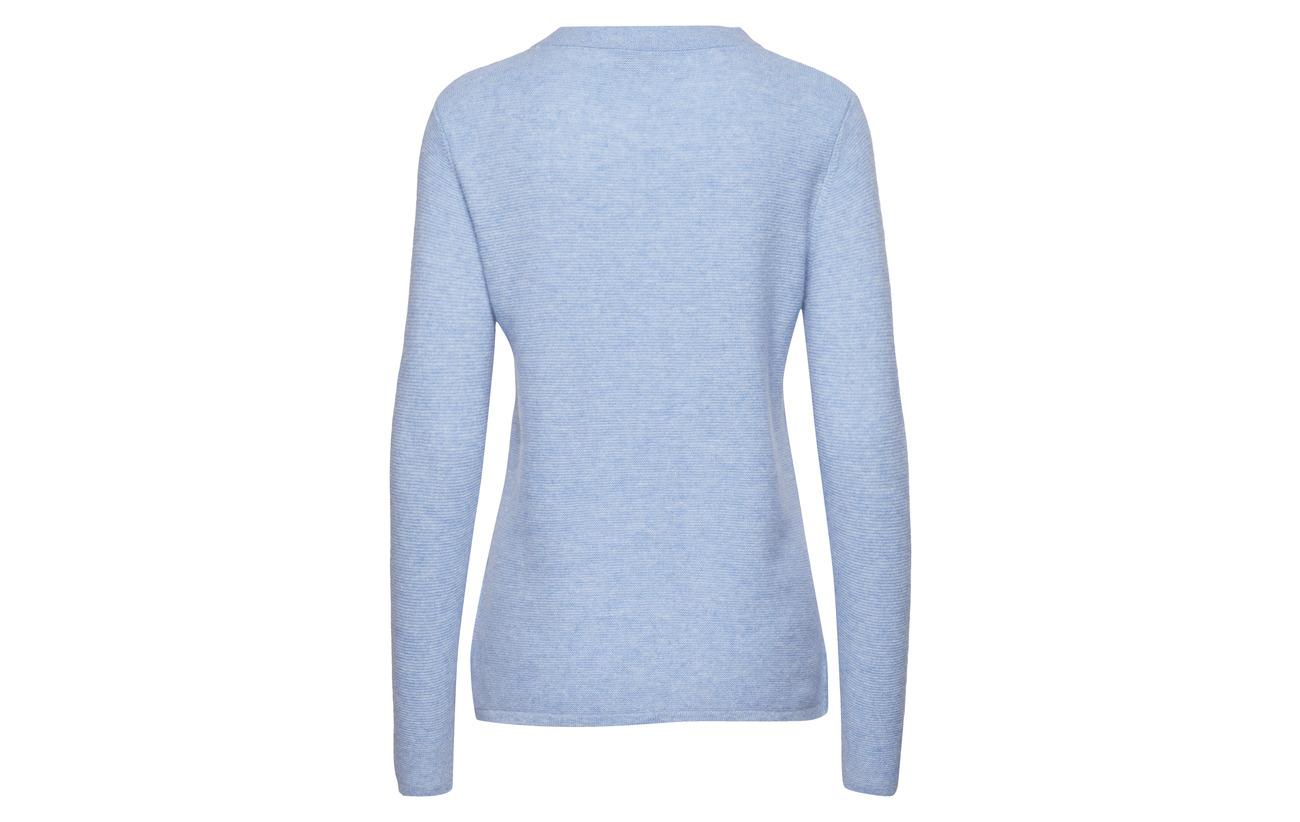 Cashmere 100 Grey Davida Slit Semipolo Sweater Cachemire Light dxUUPwOYq