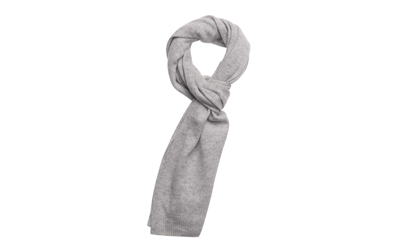 Davida Cashmere Rectangular Scarf - LIGHT GREY