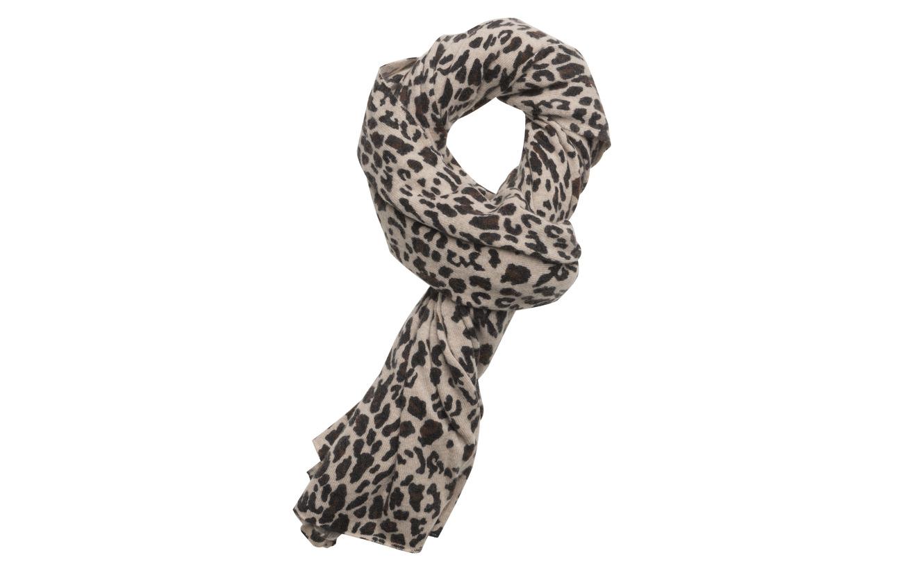 Davida Cashmere Scarf Leopard - ANIMAL LIGHT