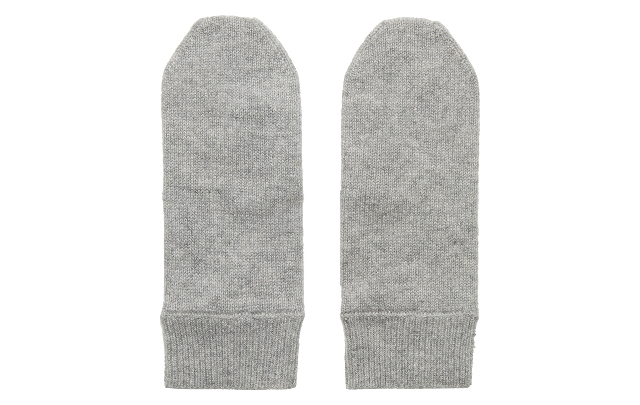 Davida Cashmere Mittens - LIGHT GREY