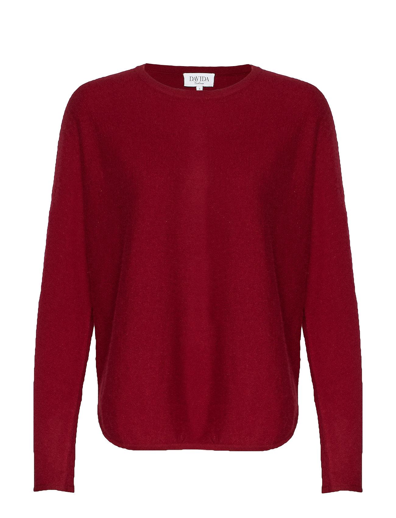 Davida Cashmere Curved Sweater - BORDEAUX