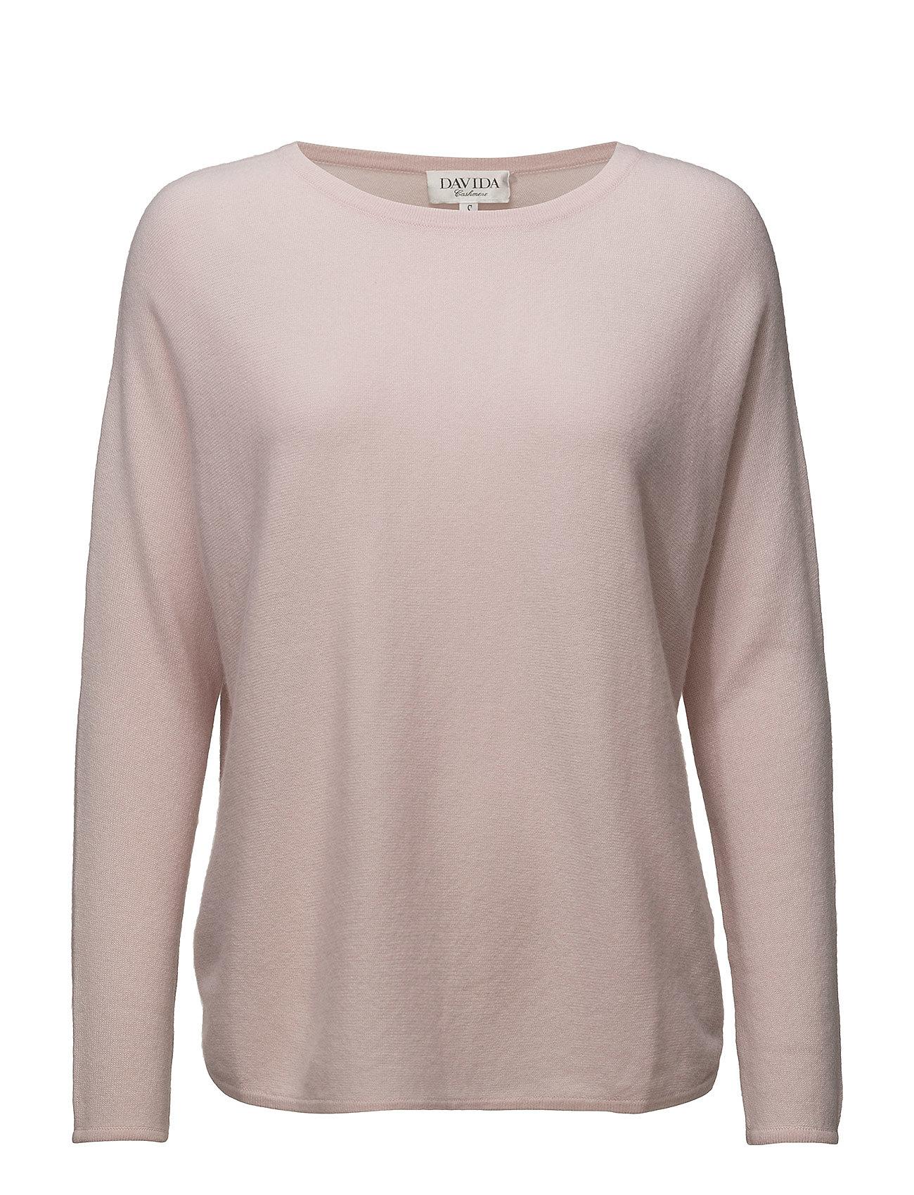 Davida Cashmere Curved Sweater - LIGHT PINK