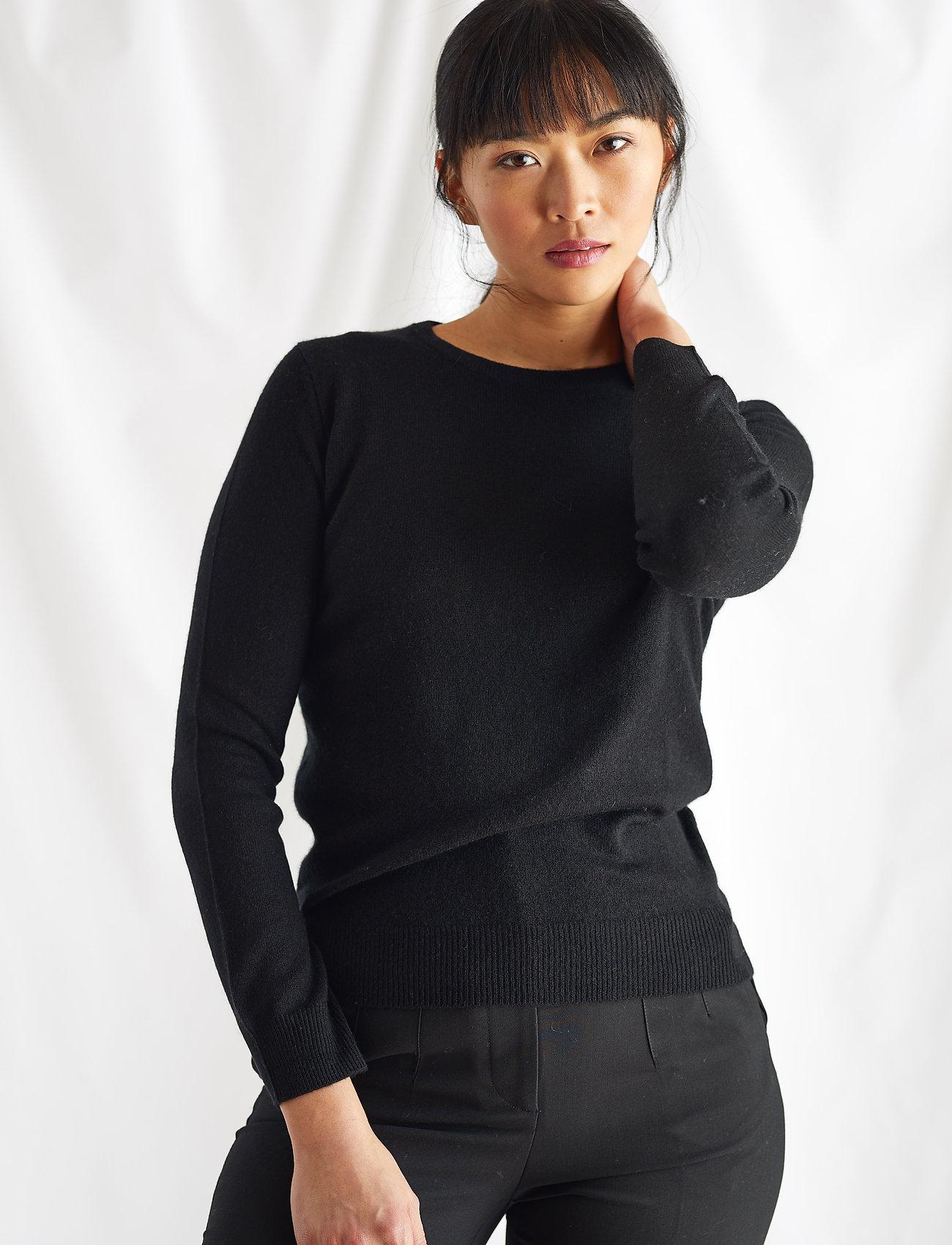 Davida Cashmere - Basic sweater - sweaters - black - 0