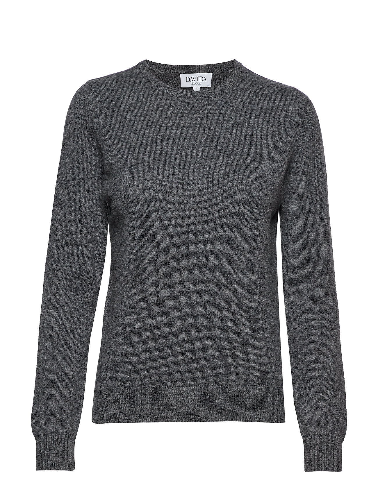 Davida Cashmere Basic sweater - DARK GREY