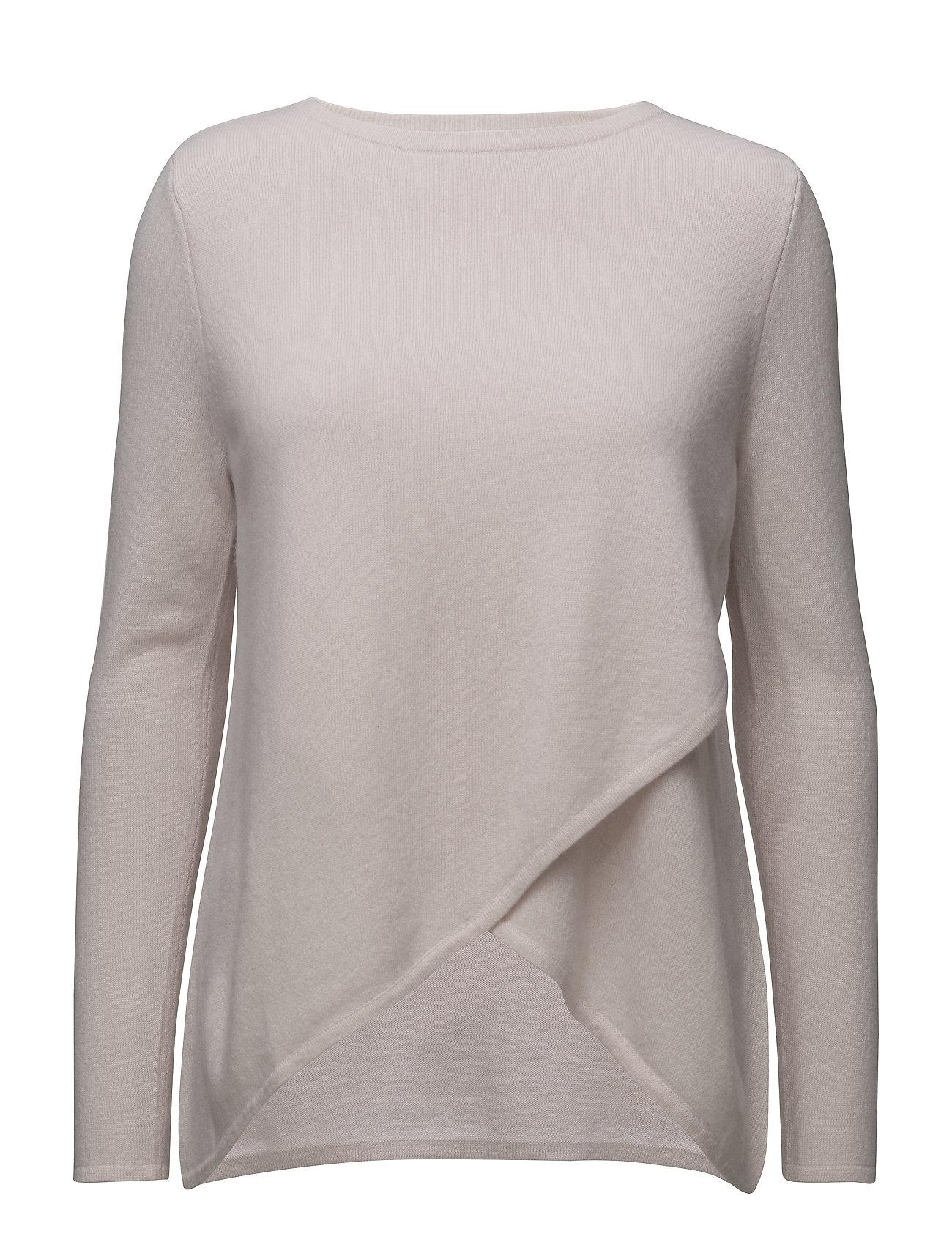 Davida Cashmere Wrap Front Sweater - LIGHT PINK