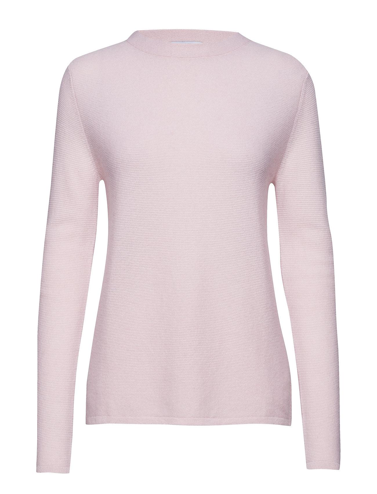 Davida Cashmere Semipolo Slit Sweater - LIGHT PINK